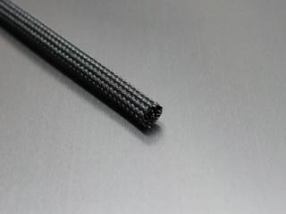 "1/4"" Black Fray Resistant PET Braided Sleeving"