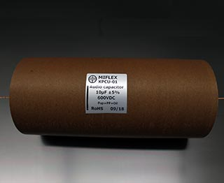 Miflex KPCU 10uF 600VDC Copper foil Poly/Paper in Oil