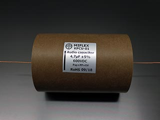 Miflex KPCU 4.7uF 600VDC Copper foil Poly/Paper in Oil