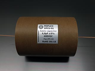Miflex KPCU 6.8uF 600VDC Copper foil Poly/Paper in Oil