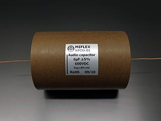 Miflex KPCU 6uF 600VDC Copper foil Poly/Paper in Oil