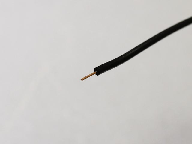 Neotech Solid UPOCC Copper in PVC 22 AWG Black
