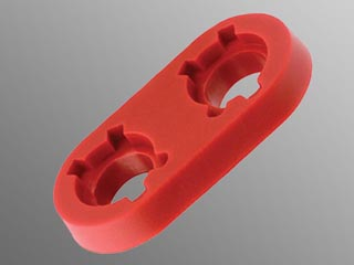 WBT 9404 Binding Post Spacer Block - Red