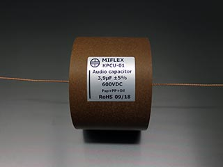 Miflex KPCU 3.9uF 600VDC Copper foil Poly/Paper in Oil
