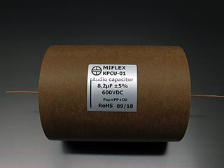 Miflex KPCU 8.2uF 600VDC Copper foil Poly/Paper in Oil